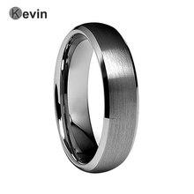6mm hombres mujeres anillo de bodas anillo de carburo de tungsteno cepillado biselado acabado