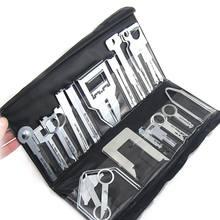 Kit de ferramentas de remoção de rádio, 38 pçs/set, multifuncional, veículo, estéreo, com bolsa para kenwood, ferramenta adequada para benz ford audi