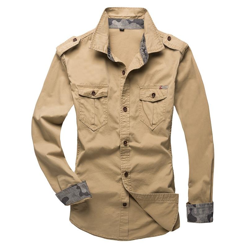 100% Cotton Military Shirt Men (11)
