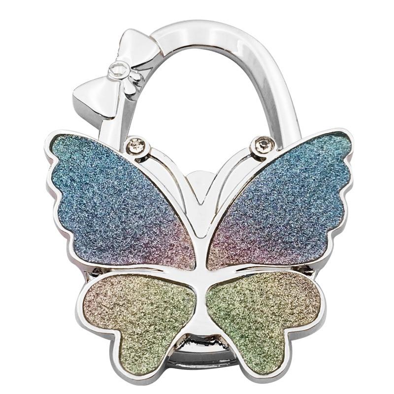 PACGOTH Table Hook Hang Bag Holder Bag Parts & Accessories Scrub Folding Shining Handbag/Purse/Bag Hanger Butterfly Pattern 1 PC