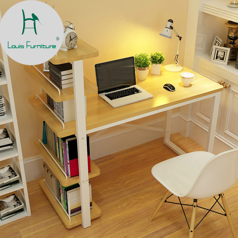 US $100.0 |Louis Fashion Children Desk Computer Table Family Small Bookcase  Combination Simple Office Student Study-in Children Tables from Furniture  ...