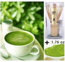 1x 50g Pure Organic Health Matcha Green Tea Powder 1 Bamboo Chasen Whisk Durable Brush Tool