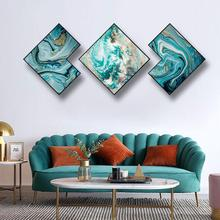 Creative irregular 3pcs/set INS Abstract fleeting time living room background wall painting corridor Hotel decorative