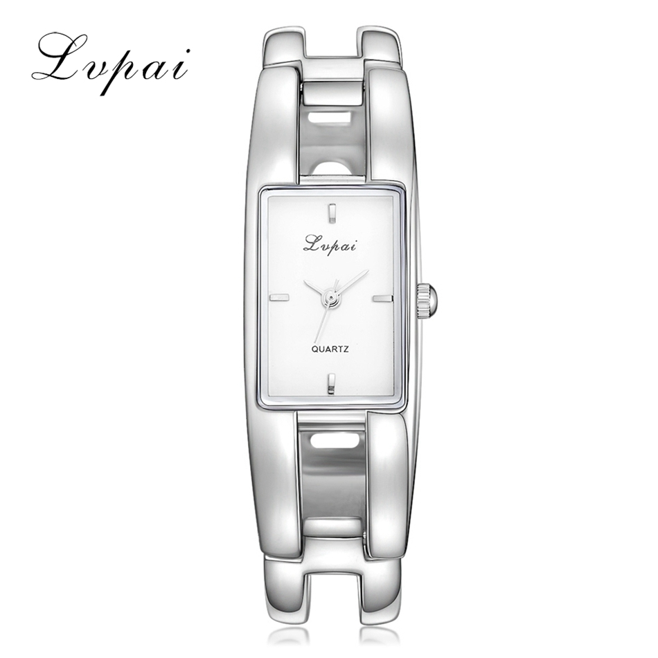 Lvpai Famous Brand Women Bracelet Watch Silver White Ladies Quartz Wristwatch Fashion Casual Women Dress Watches Luxury Clock brand new 2016 fashion ladies casual watches rhinestone bracelet watch women elegant quartz wristwatch silver clock