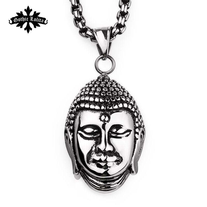 God and Buddha head Shakya Mani pendants for Men and women Stainless steel Gautam necklace