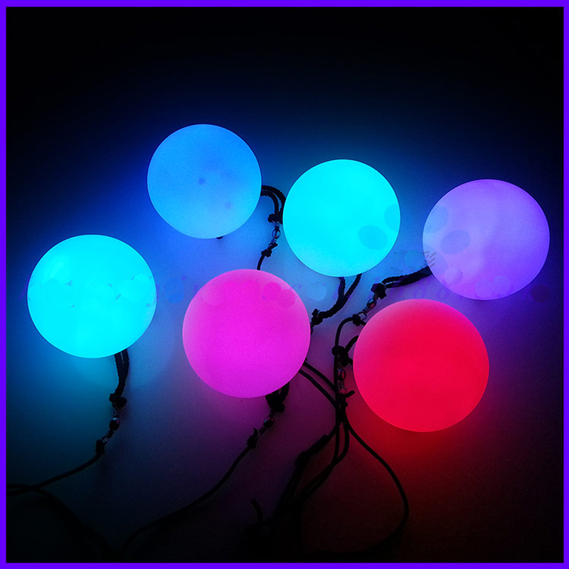 1PC Belly Dance LED Poi Thrown Ball For Women Professional Dancing Hand-Props LED Light Poi  Balls Belly Dance Accessories