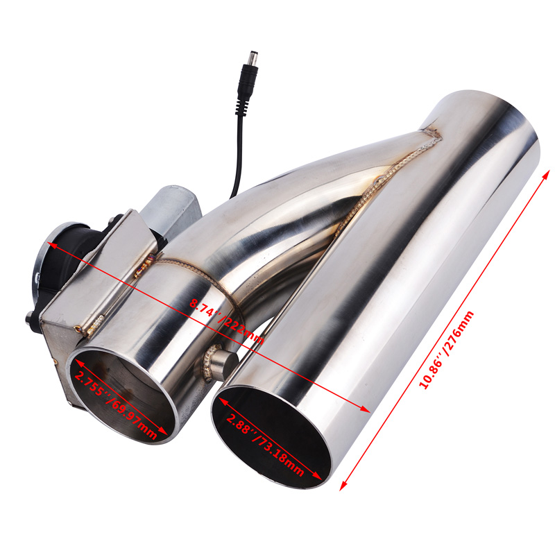 High Performance 3 Inch Stainless Steel Headers Y pipe Electric Exhaust Catback CutOut Kit with Remote Control Car Exhaust Parts