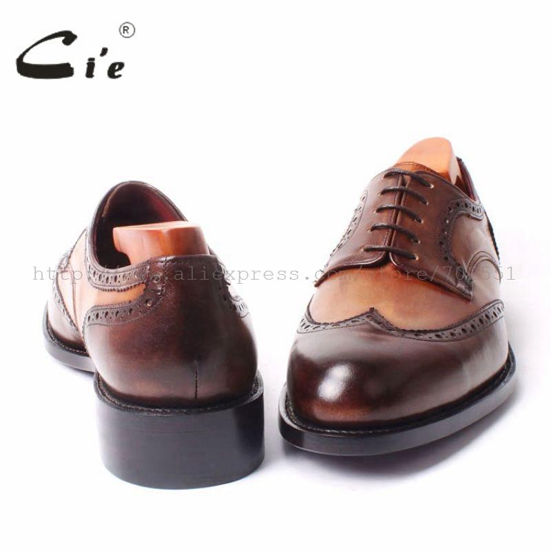 Cuir Rond Goodyear Hommes La Craft Derby Bout Cousu À Respirant Main Mix En Chaussures Couleurs Couleur De Brun Robe Chaussure D100 Cie gvfq5
