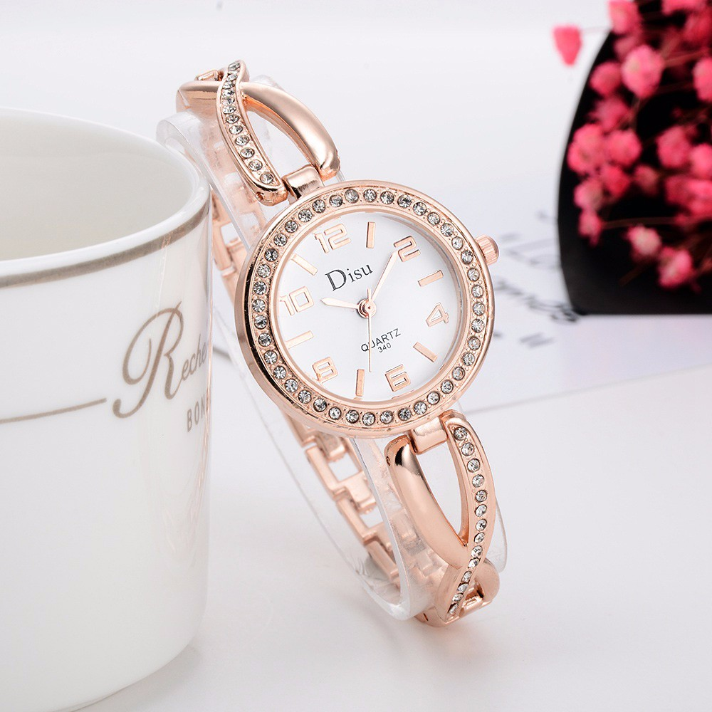montre femme 2018 Luxury Fashion Rose Gold Plated Women s Elegant Rhinestone  Bracelet Quartz Watch Fashion Ladies Dress Watches 6228ba971bfe