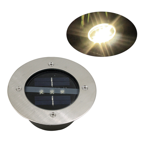 luzes de conves solares a prova d agua 3led enterrado lampadas do gramado para o