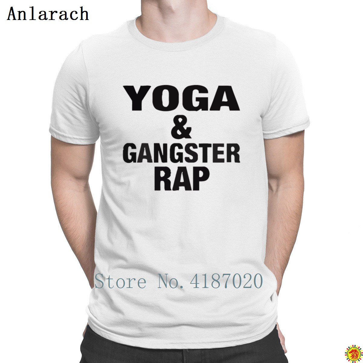 Yogas And Gangster Rap T Shirt Cheap Sale Short Sleeve Hilarious