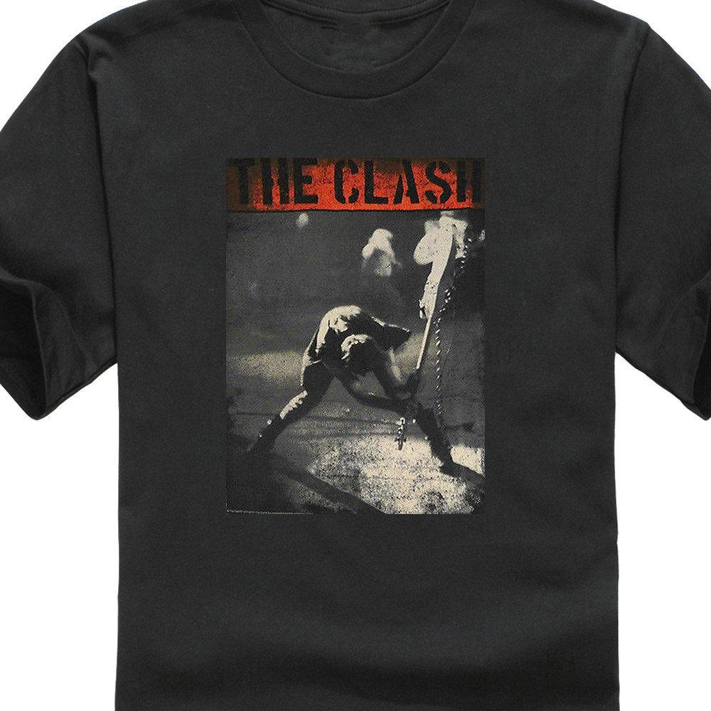 e9ca13ca8b Camiseta personalizada diseño de camisas de cuello de manga corta el choque  Londres T camisas para hombres jóvenes cuello redondo personalizado T