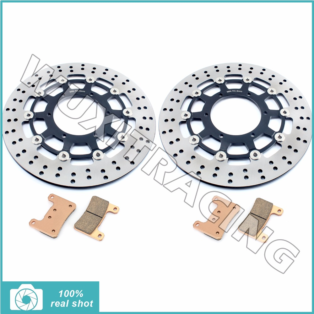 Round new front brake discs rotors brake pads for suzuki gsxr 600 750 1000 gsxr600