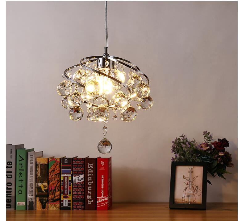 Free Shipping Chrome Crystal Pendant Lamp 5W Creative Restaurant Cord Pendant Lighting FixtureS Contemporary Style 110-240V Lamp ручной пылесос handstick dyson v6 cord free extra sv03 350вт желтый
