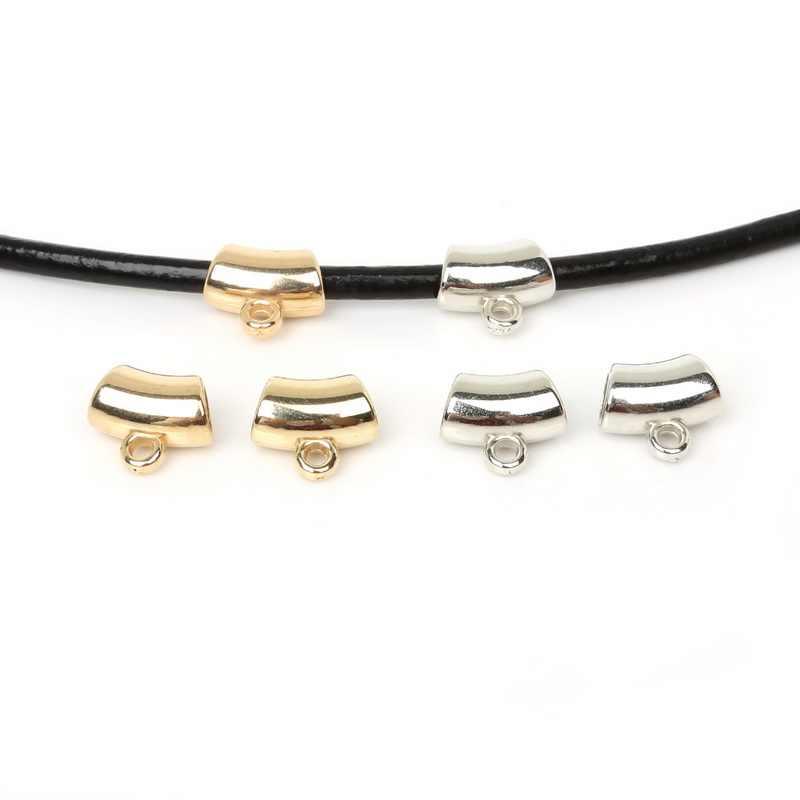 50 Uds. 14x13mm oro/plata/rodio CCB chapado colgante Clip broche cuentas de bola para DIY collar pulsera fabricación de joyas hallazgos