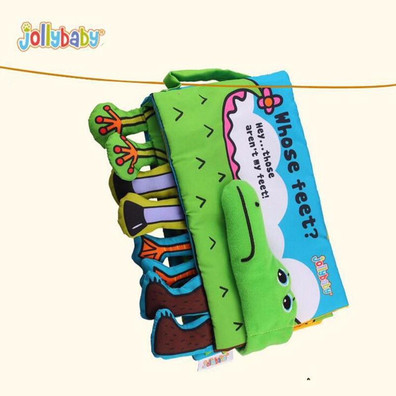 Libro de tela de bebé multifuncional de cocodrilo Educación - Juguetes para niños