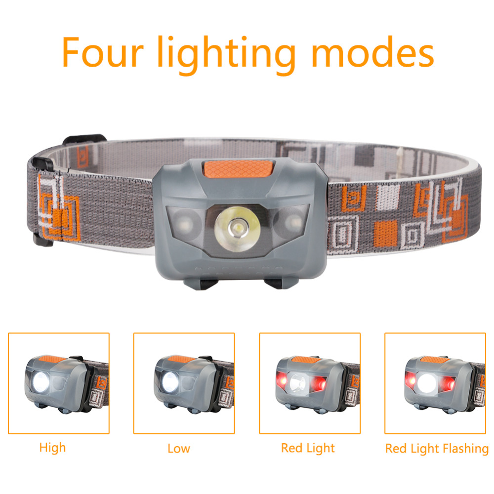 Hot sale R3 + 2LED 800 Lumens 4 Modes Mini Headlamp light Outdoor Headlight Waterproof Head Lamp Lantern For Hunting USE AAA r3 2led super bright mini headlamp headlight flashlight torch lamp 4 models