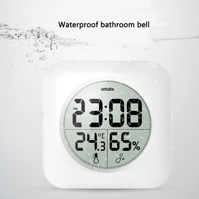 Digital Bathroom Clock Waterproof Relogio de parede Modern Wall Clock - Home Decor