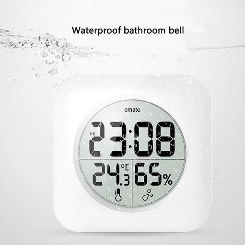 Digitale Badezimmer Uhr Wasserdicht Relogio De Parede Moderne Wanduhr  Wohnkultur Saat Hotel Bad Uhr Saug In Digitale Badezimmer Uhr Wasserdicht  Relogio De ...