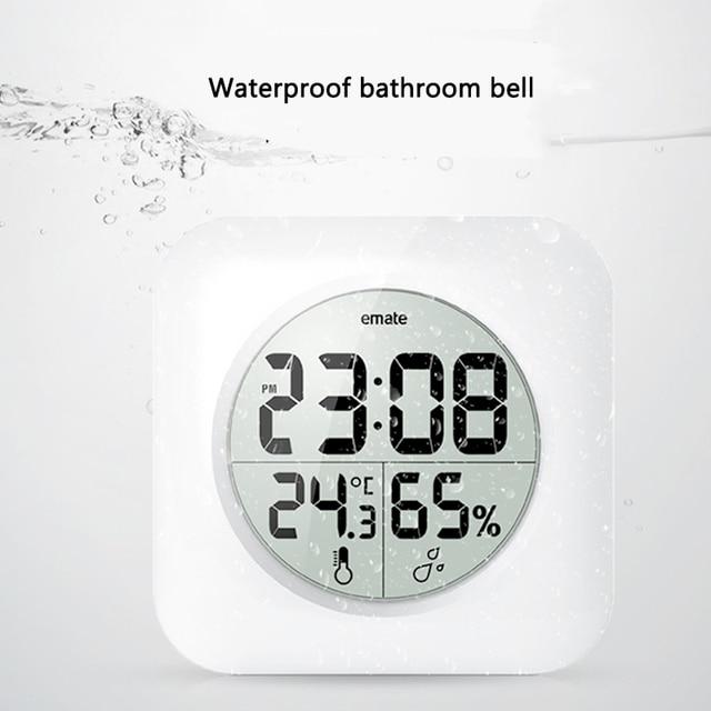 Digitale Badezimmer Uhr Wasserdicht Relogio de parede Moderne ...