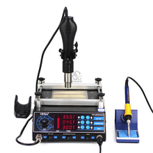 853AAA BGA Rework Machine with hot air gun, preheating station PCB Preheater Soldering Station BGA Rework Station цена 2017