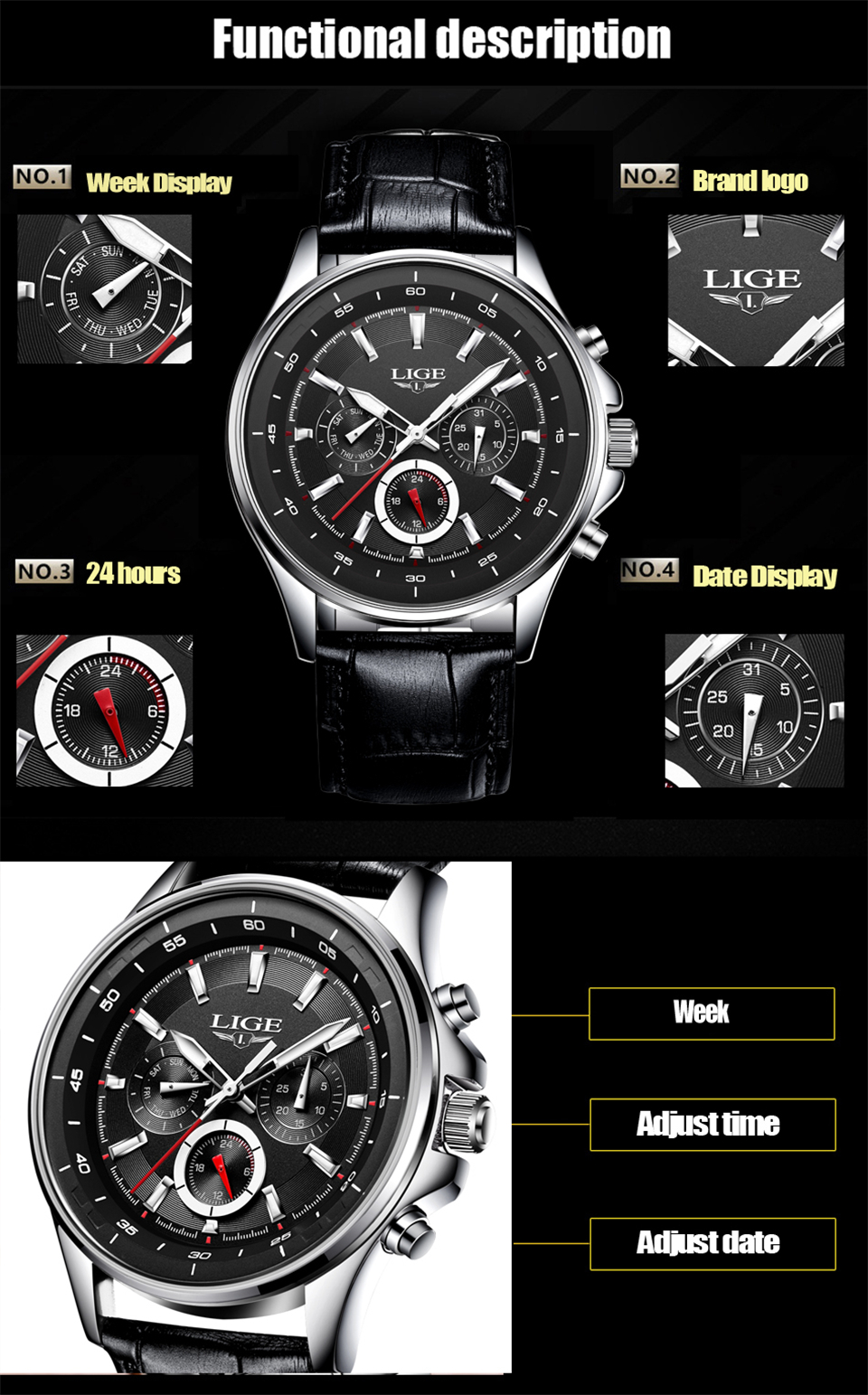 LIGE Mens Watches Waterproof Top Brand Luxury Quartz Watch Men Sport Watch Fashion Casual Military Clock Male Relogio Masculino 21