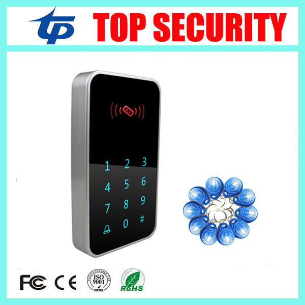 5pcs RFID card access controller 125KHZ ID card standalone access control reader waterproof touch key door access control system good quality smart rfid card door access control reader touch waterproof keypad 125khz id card single door access controller