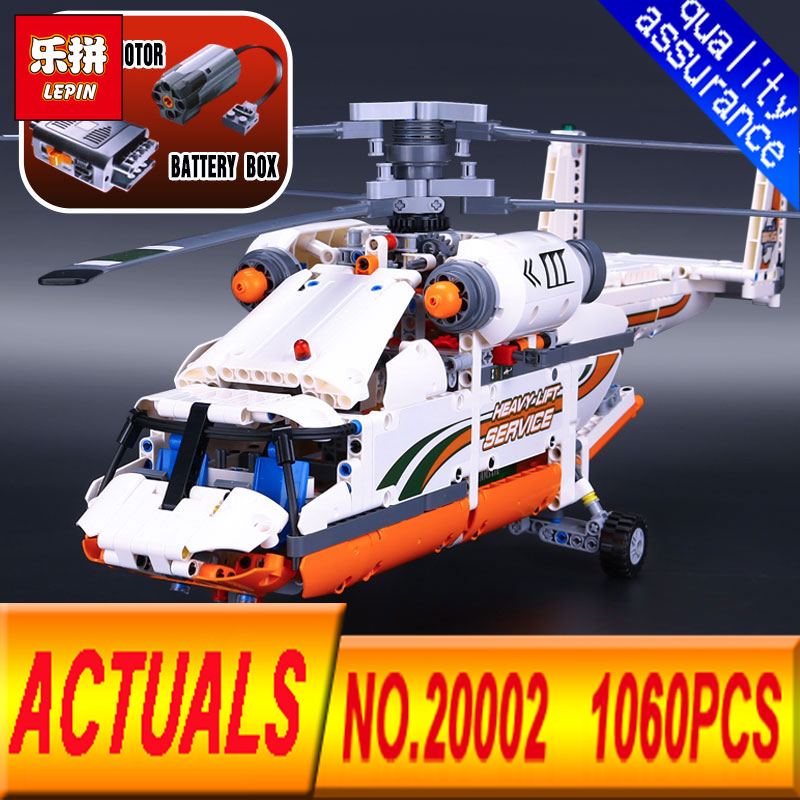 Lepin 20002 1060pcs Heavy Lift Helicopter Technic Plane Building Bricks Blocks Compatible  With Legeod 42052 Boy assembling toys city airport vip private plane blocks bricks building technic christmas toys for children compatible with legoeinglys lepin 8911