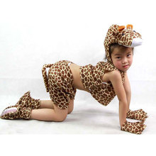 Child Kids Pajama Cartoon Animal Giraffe Costumes Girls Performance Clothing Suit Childrens Day Halloween Costume