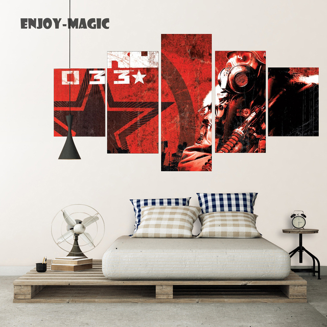 Home Decor Canvas Poster Game Metro 2033 Home Decoration Wall Art Modern 5  Piece HD Oil
