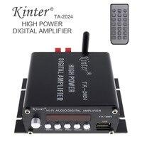 Universal Clase-t Hi-Fi Audio Estéreo Amplificador Digital Bluetooth USB de la Ayuda TF con Mando a distancia y Adaptador de MP3 WMA FLAC