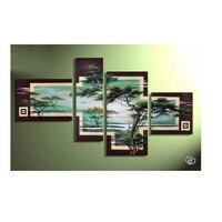 4 قطعة رخيصة الحديثة غرفة المعيشة الديكور النفط قماش الفن جدار ديكور اللوحة رخيصة الجدار فرملس متعددة جدار الفن