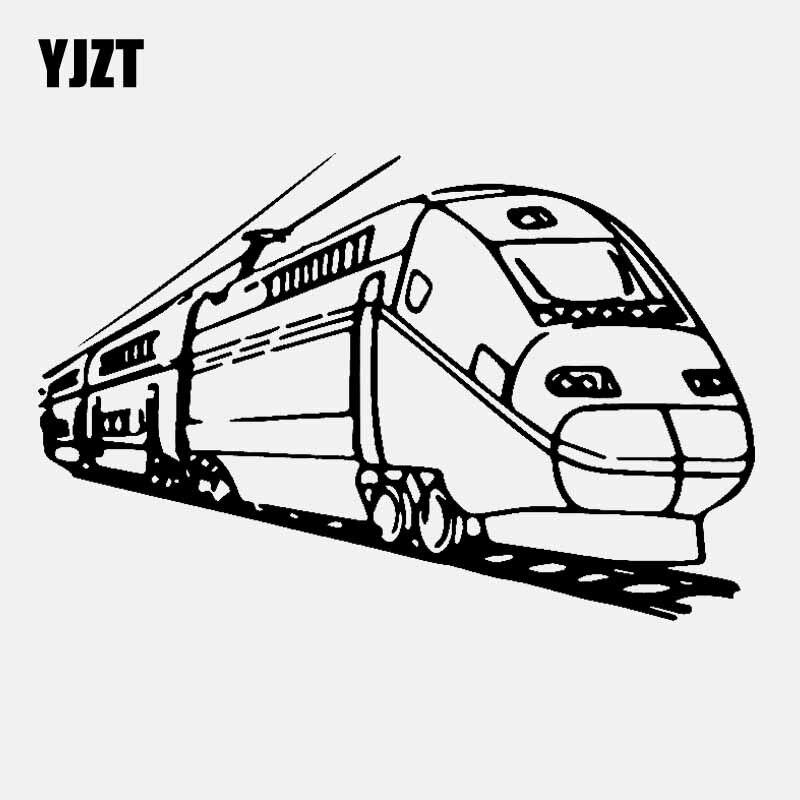 YJZT 18CM*11.8CM Modern Train Car Sticker Transport Vinyl Decal Black/Silver C3-1780