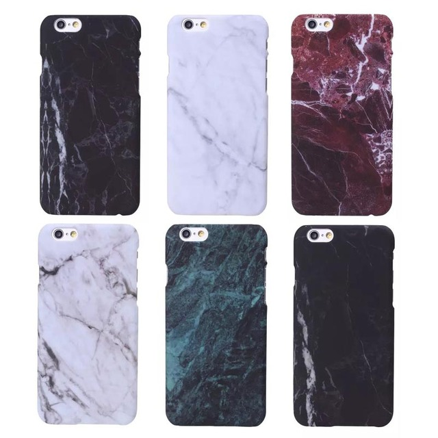 Hard Plastic Marble Stone Painted Phone Case Cover for iphone 5s 7