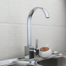 Лучшие горячей и холодной воды смеситель кухонный squre Дизайн поворотный носик кран 8522-1 бортике смеситель для умывальника torneira