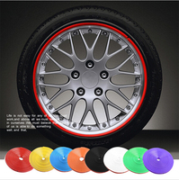 8 Meter Roll Car Wheel Hub Tire Sticker Car Decorative Styling Strip Wheel Rim Tire Protection