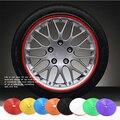 8 Metro/Roll Car Wheel Hub Tire Estilo Etiqueta Engomada Del Coche Decorativos Tira Rueda/Llanta/Neumático Cuidado Protección cubre Accesorios de Auto