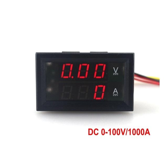 DC 0 100 V/1000A Spannung Meter Gauge Digital Voltmeter Amperemeter ...