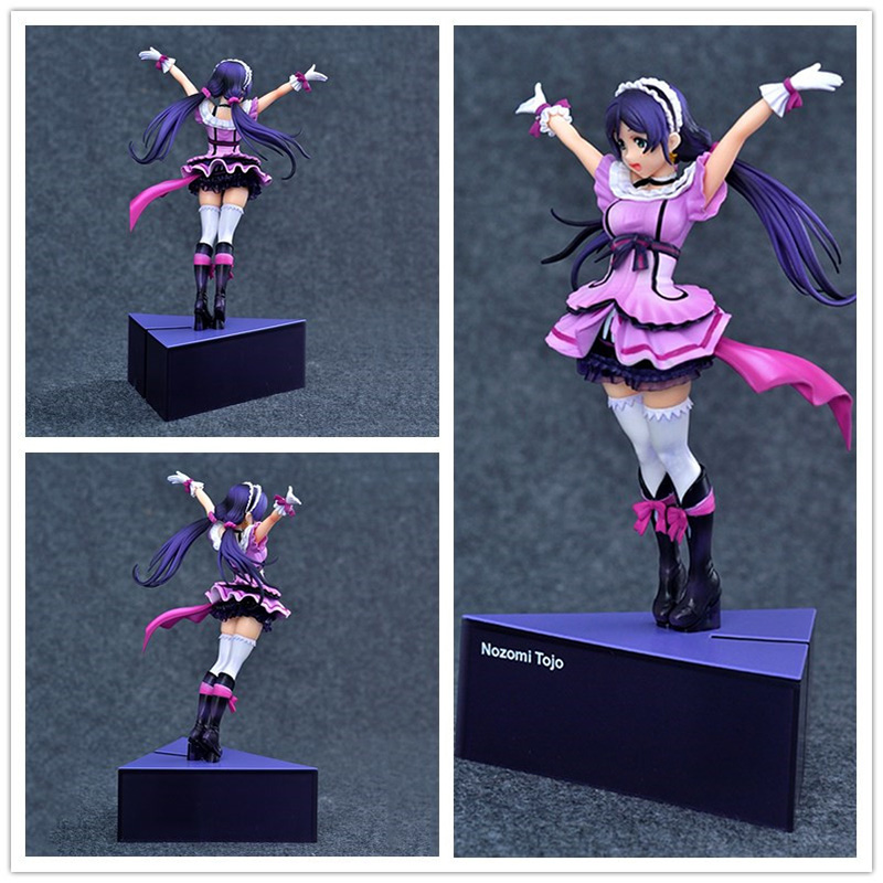 ФОТО 22CM LoveLive Nozomi Tojo Japanese Anime Minifigure PVC Model Birthday Gifts Cute Action Figure Toys Girls Doll Collection