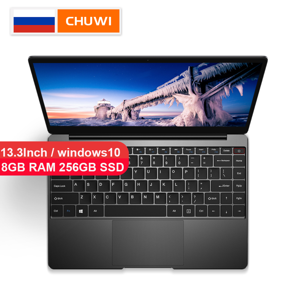 CHUWI AeroBook Intel Core M3 6Y30 13.3 Inch Windows 10 8GB RAM 256GB SSD Laptop with Backlit Keyboard Metal Cover Notebook