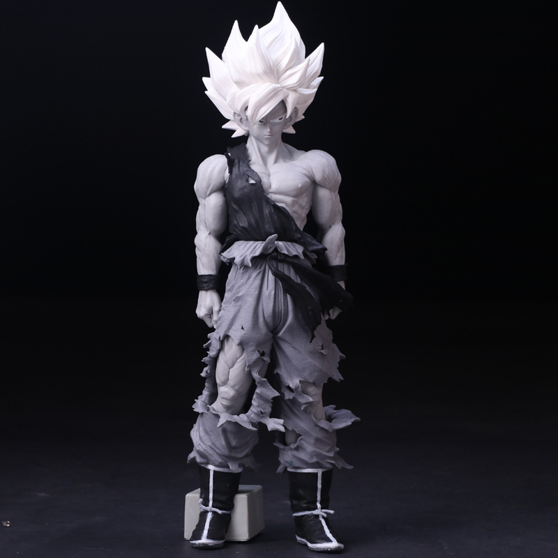 Anime Dragon Ball Z Super Master Stars Piece The Son Goku Big Size 33CM Black Ver. PVC Action Figure Model Kids Toys Doll dragon ball z super big size super son goku pvc action figure collectible model toy 28cm kt3936