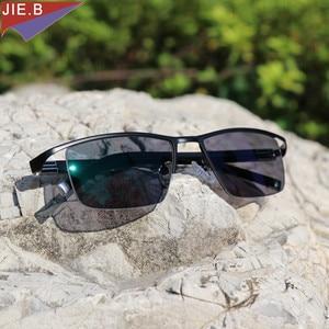 Image 5 - 새로운 디자인 Photochromic Reading Glasses 남성 하프 림 티타늄 합금 노안경 안경 diop터가있는 선글라스 변색
