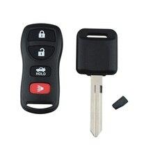 4 Пуговицы Автозапуск дистанционного брелок и чип транспондера зажигания Ключи Fit для замены Nissan ремонт Ключи
