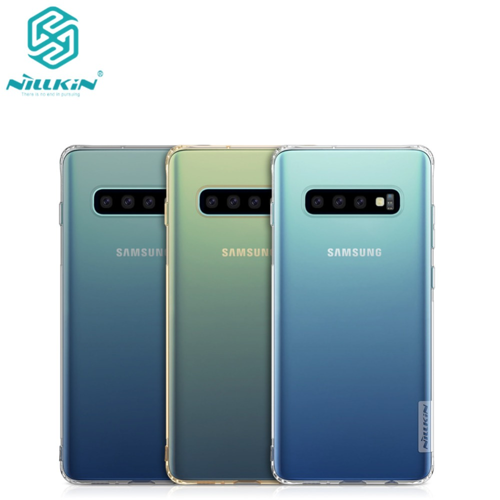 10pcs lot NILLKIN Ultra Thin Transparent Nature TPU Case For Samsung Galaxy S10 TPU Hard Soft