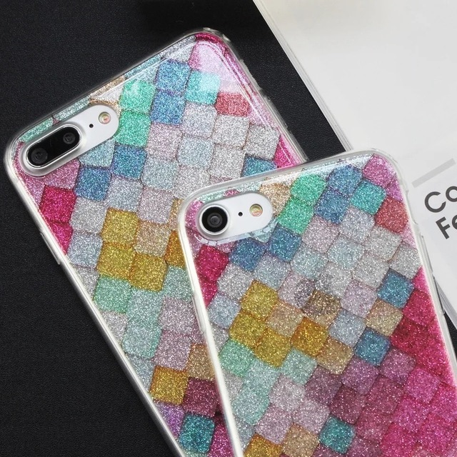 Mosaic Clear Kate Case For iPhone 6 6s 7 8 Plus Colored Marble Glitter  Transparent Cover Jack MODAL LUXICON PEARL 57efcdc53877