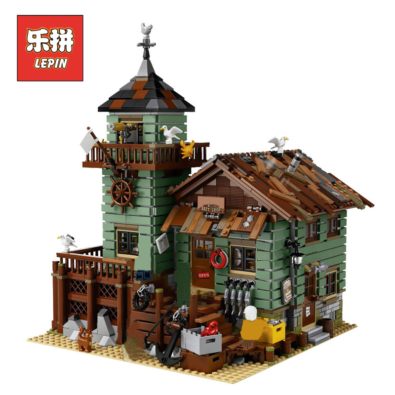 Lepin 16050 2109Pcs Creative Old Finishing Store Set Children Educational Model Building kits Blocks Bricks Toys LegoINGly 21310 lepin 16050 the old finishing store set moc series 21310 building blocks bricks educational children diy toys christmas gift