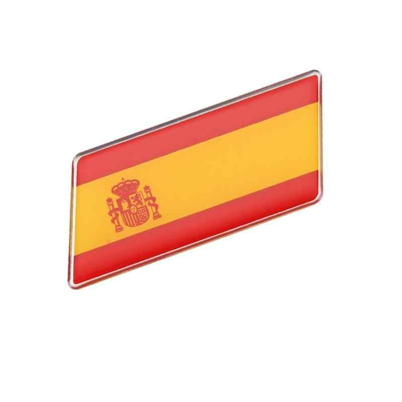 European Country Spain Spanish National Flag Rectangle Styling Car Stickers Automobile Motorcycle Accessories