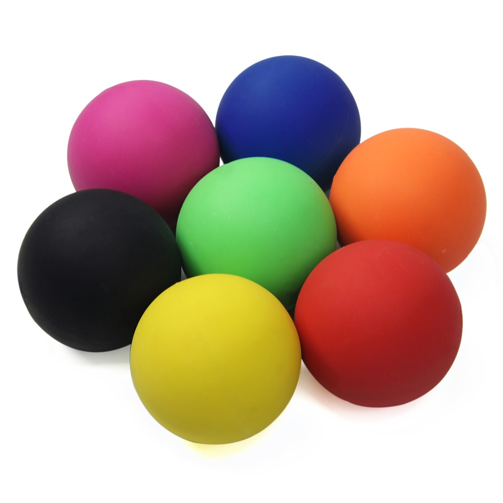 6cm Lacrosse Ball 100% Rubber Fitness Ball Hockey Solid Massage Ball Relaxation Therapy Rehab Tool Full Body Massage