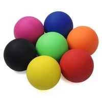 6cm balle de crosse 100% caoutchouc Fitness balle de Hockey solide balle de Massage Relaxation thérapie outil de réadaptation Massage complet du corps