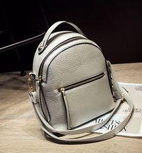 Горячая! 2017 Новая мода Заклепки женщины рюкзак дизайнер Простой путешествовать сумка кожа PU сплошной цвет мини студент мешок школы